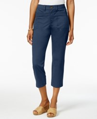 Style And Co Patch Pocket Capri Pants Only At Macy's New Uniform Blue