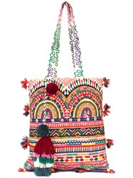Figue Multi Print Tassel Tote Bag Multicolour