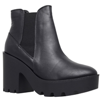 Miss Kg Stomp Chunky Heel Chelsea Boots Black
