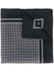 Dolce And Gabbana Printed Square Scarf Black
