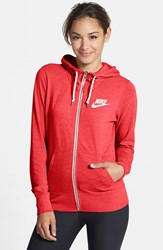 Women's Nike 'Gym Vintage' Zip Front Hoodie Daring Red