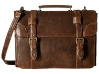 Scully Squadron Satchel Briefcase Antique Brown Briefcase Bags