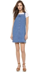 Mih Jeans The Protest Denim Pinafore Dress Cnd Wash