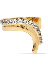Elizabeth And James Aalto Gold Tone Crystal Ear Cuff One Size