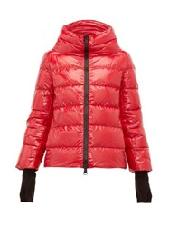 Herno Funnel Neck Quilted Shell Jacket Red