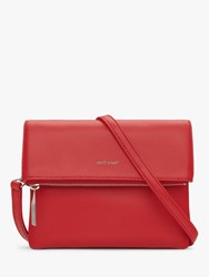 Matt And Nat Loom Collection Hiley Vegan Cross Body Bag Pomegranate