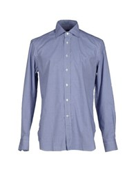 Mp Massimo Piombo Shirts Shirts Men Blue