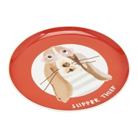 Joules Mischievous Mutts Side Plate Orange Dog