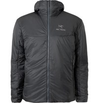 Arc'teryx Nuclei Fl Slim Fit Padded Arato 10D Ripstop Hooded Jacket Gray