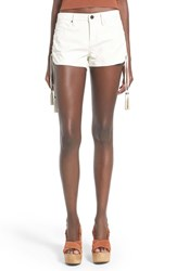 Blank Nyc Women's Blanknyc Lace Up Faux Leather Shorts Frisky Business