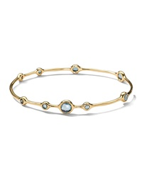 Ippolita 18K Rock Candy Lollipop Bangle In London Blue Topaz Gold