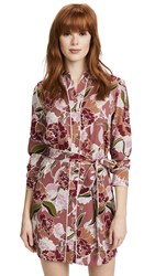 Cooper And Ella Printed Shirtdress Dusty Pink Floral Print