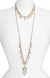 Marchesa Women's Sheer Bliss Set Of 2 Layering Necklaces Mint Gold