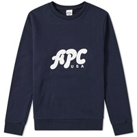 A.P.C. U.S. Gabe Logo Sweat Blue
