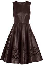 Dolce And Gabbana Cutout Leather Dress Red