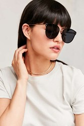 Urban Outfitters Rendezvous Rimless Cat Eye Sunglasses Black