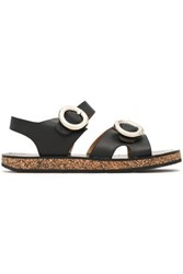 Joseph Buckled Leather Sandals Black