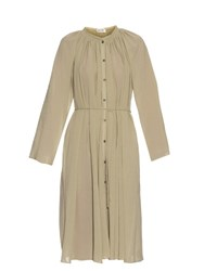 Christophe Lemaire Tie Waist Cotton Crepe Dress