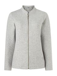 Dash Zig Zag Quilt Grey Marl Jacket