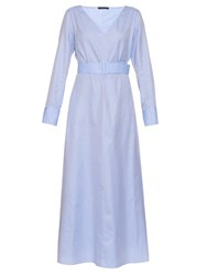 The Row Laisley Sea Island Cotton Shirtdress Light Blue