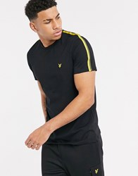 Lyle And Scott Side Taped T Shirt In Black