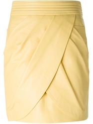 Balmain Draped Skirt White