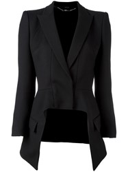 Alexander Mcqueen High Low Blazer Black