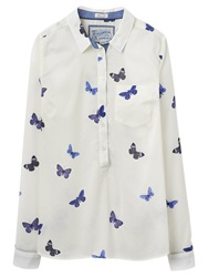 Joules Charlotte Butterfly Print Shirt Cream Butterfly