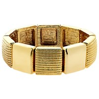 Monet Textured Stretch Bracelet Gold