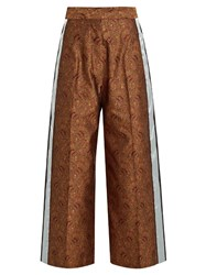 Hillier Bartley Paisley Jacquard Track Pants Burgundy