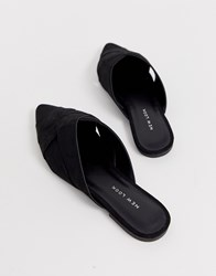 New Look Cross Strap Mule In Black