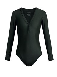 Matteau The Long Sleeve Maillot Swimsuit Dark Green