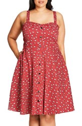 City Chic Plus Size Women's Cutie Raccoon Print Fit And Flare Sundress