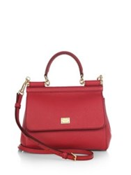 Dolce And Gabbana Small Miss Sicily Top Handle Satchel