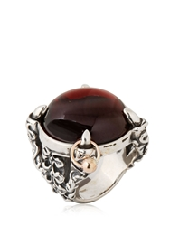 Manuel Bozzi Dark Queen Ring Silver Brown