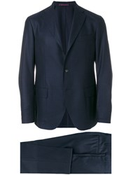 The Gigi Single Breasted Suit Acetate Viscose Wool Blue