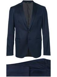 Tonello Striped Two Piece Suit Blue