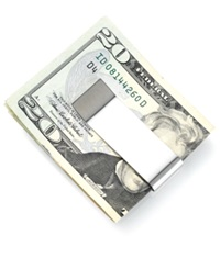 Kenneth Cole New York Money Clip Double Your Money Stainless Steel