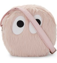 Mini Cream Monster Faux Fur Shoulder Bag Pink