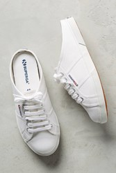 Anthropologie Superga Sneaker Mules White