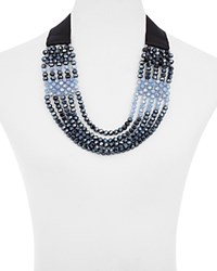 Max Mara Weekend Zanzara Statement Necklace 24 Midnight Blue