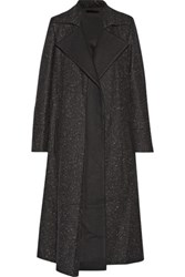 Wes Gordon Flecked Wool Coat Black