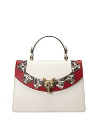 Gucci Linea E Loved Top Handle Satchel Bag White Red White Red