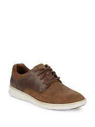 Ugg Hepner Suede And Leather Sneakers Chestnut