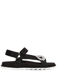 Roger Vivier 20Mm Trekkiviv Nylon Sandals Black