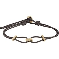Zadeh Men's Gold And Parachute Cord Bracelet Gold