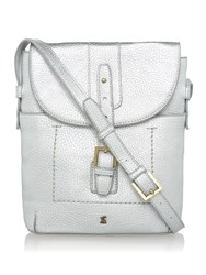 Joules Pu Cross Body Bag Silver