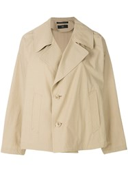 Y's Side Pocket Peacoat Nude And Neutrals