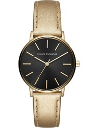 Armani Exchange Ax5546 Lola Stainless Steel And Leather Watch