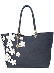 Christian Siriano Floral Tote Bag Blue